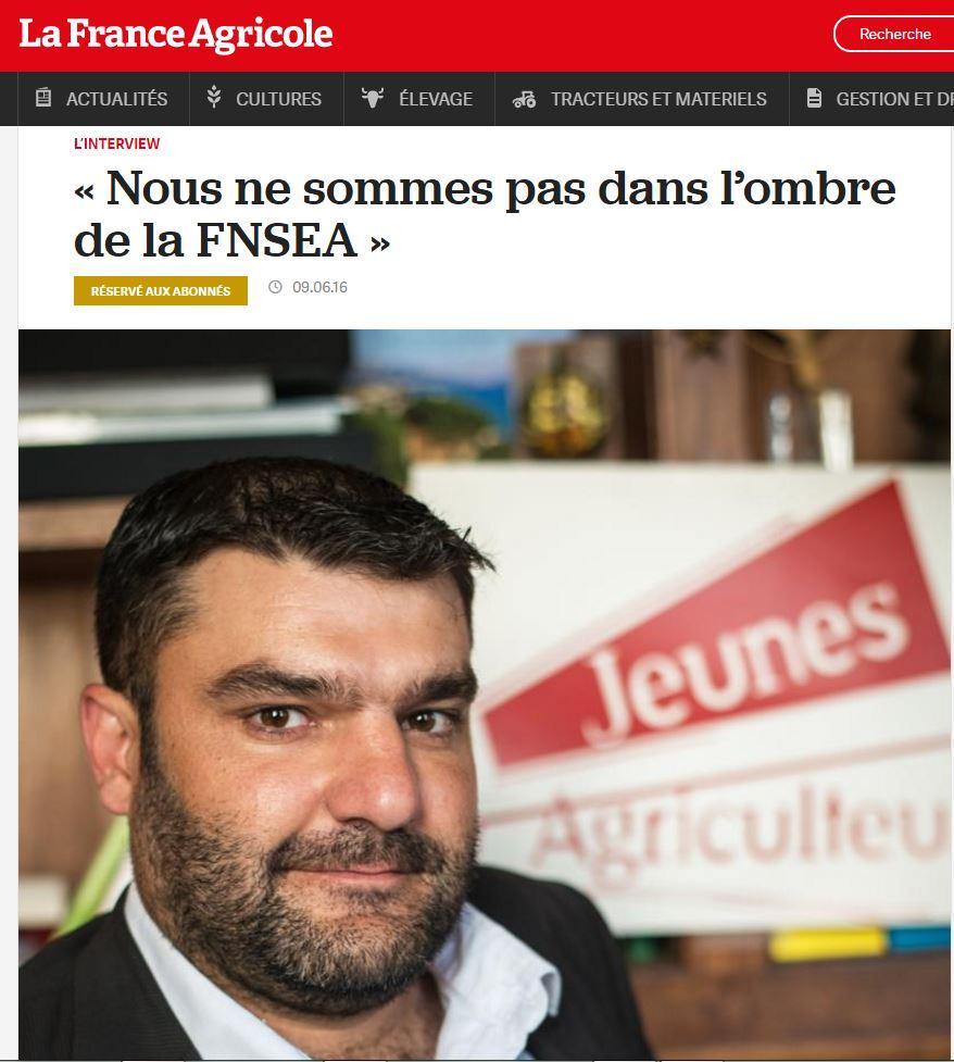 Itw Jérémy France Agricole Juillet 2016