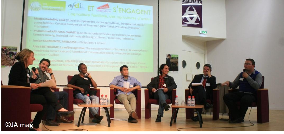 Sommet international des jeunes agriculteurs, organisé par le syndicat en septembre 2014