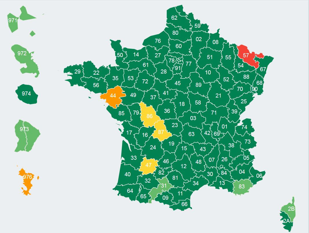 ECA - carte de France